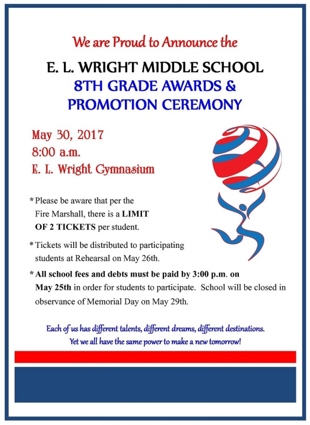 8th Grade Promotion Announcement