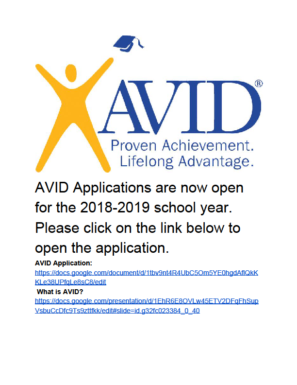 avid applications