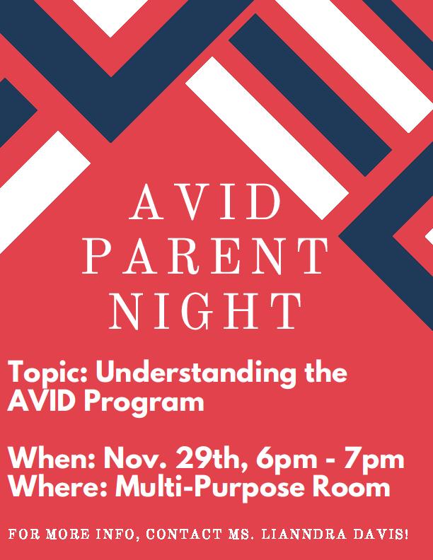 AVid Parent Night 2018