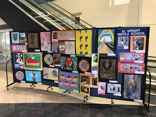 Art Display at R2i2 for E. L. Wright Middle School